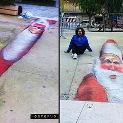 Babbo Natale anamorfico