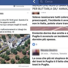 Imbecilli su Facebook, dopo la tragedia sulla Bari-Nord