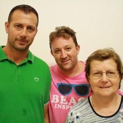 Maria Peschechera, suo figlio Giuseppe Rinaldi e Ruggiero Graziano, presidente ANMIG