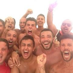 Barletta Beach Soccer, selfie post vittoria