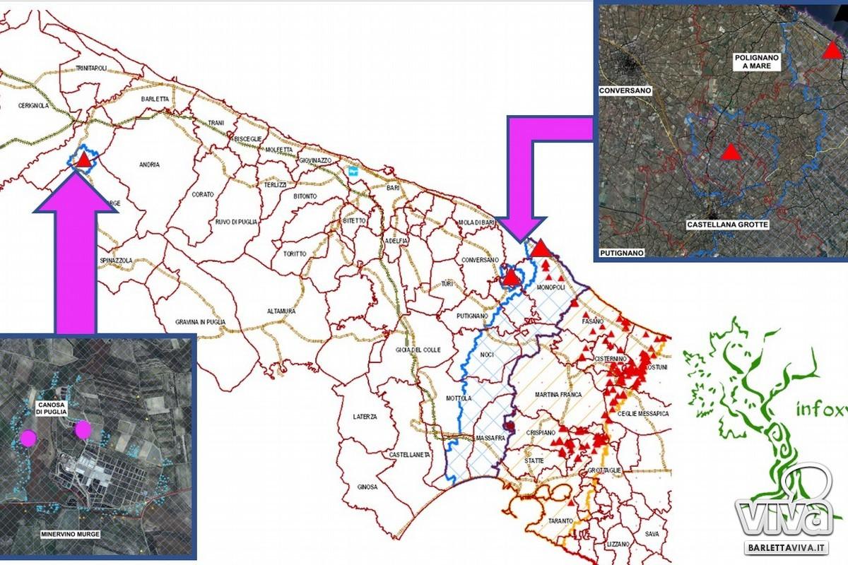 Mappa Xylella
