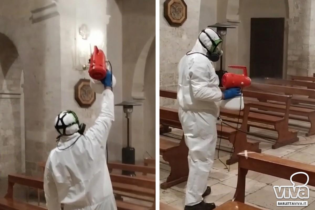 Sanificazione chiesa San Giacomo