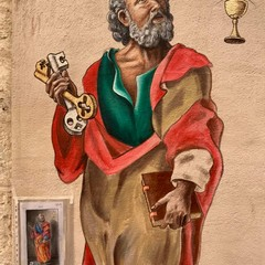 Il maestro Borgiac dedica un murale a San Pietro nel centro storico di Barletta