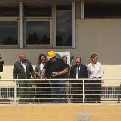 Michele Emiliano all'ospedale di Barletta