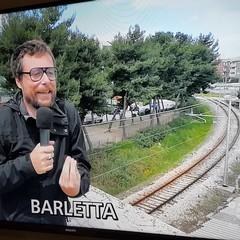 """Lavori in via Andria, Pinuccio a Barletta per """"Striscia la Notizia"""""""