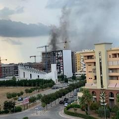 Incendio in via Dellisanti