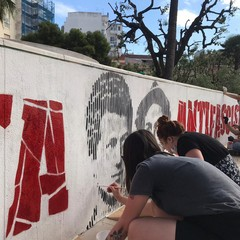Barletta antifascista ripristinato il murale JPG