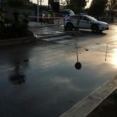 Bomba dacqua a Barletta