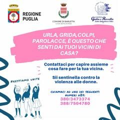 Centro Antiviolenza e Comune operativi a Barletta a sostegno delle donne in difficolta