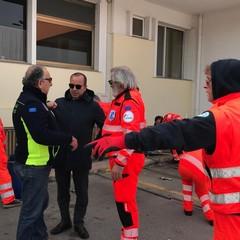 Coronavirus anche a Barletta tende pre triage davanti al Pronto soccorso JPG