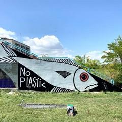 No plastic, il murale di Borgiac