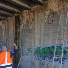 Ponte su via Callano, in corso attività di manutenzione