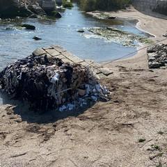 Rifiuti sulla spiaggia di Barletta