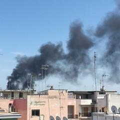 Incendio zona sud Barletta JPG
