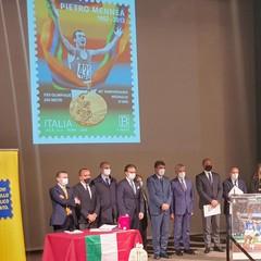 Presentazione francobollo Pietro Mennea