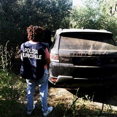 Nascoste nelle campagne di Barletta la Polizia Locale ritrova due auto rubate