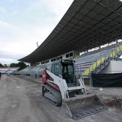 Lavori in corso allo stadio