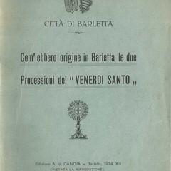 VENERDI SANTO puglia barletta tradizioni popolari processioni venerdi santo santo sepolcro