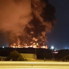 Incendio sulla Andria-Barletta