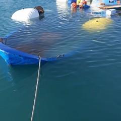 Barche affondate nel porto di Barletta