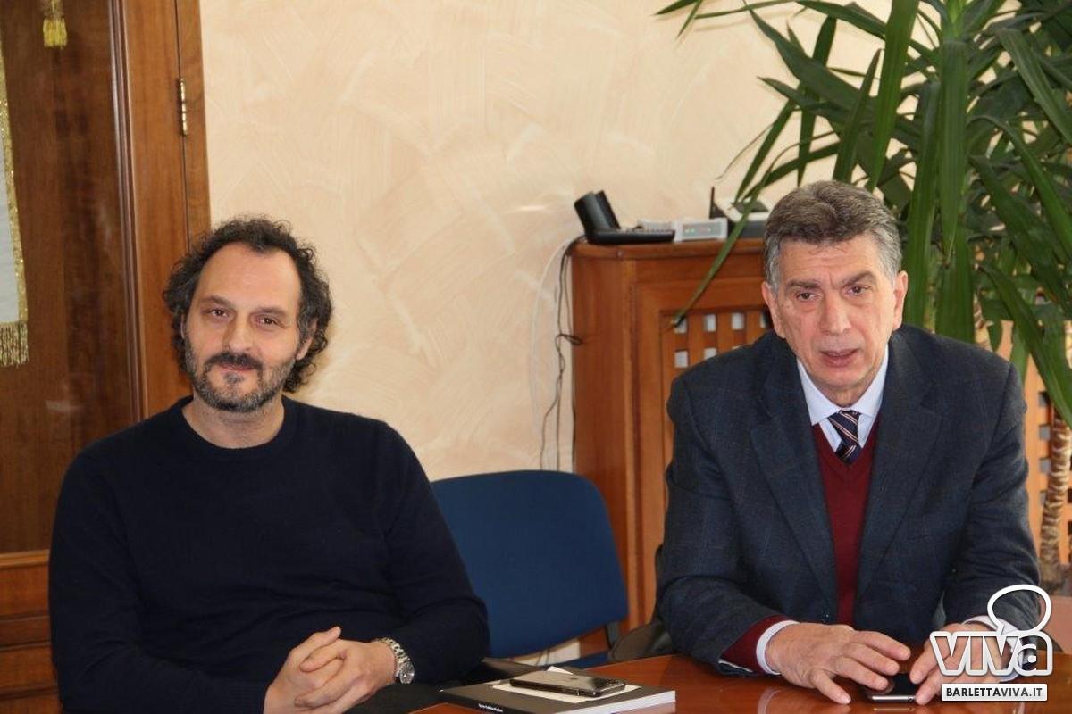 L'attore Fabio Troiano e il sindaco Cosimo Cannito