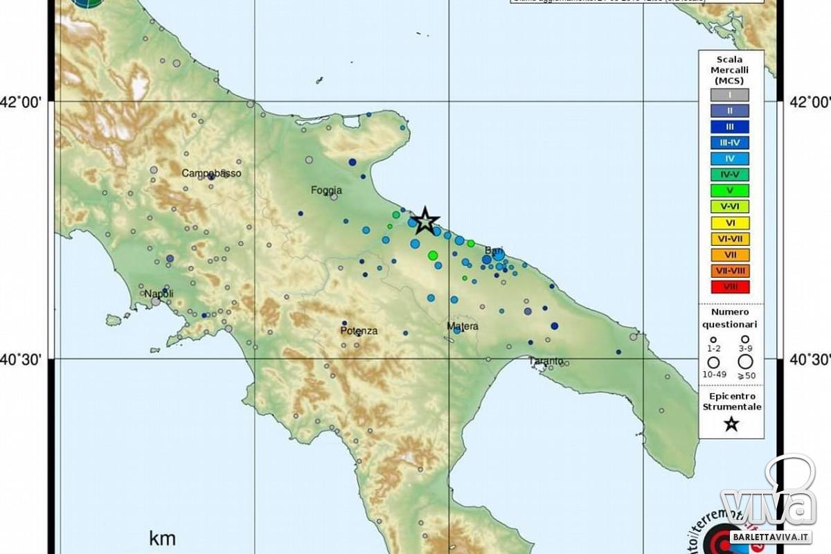 Terremoto del 21 maggio a Barletta