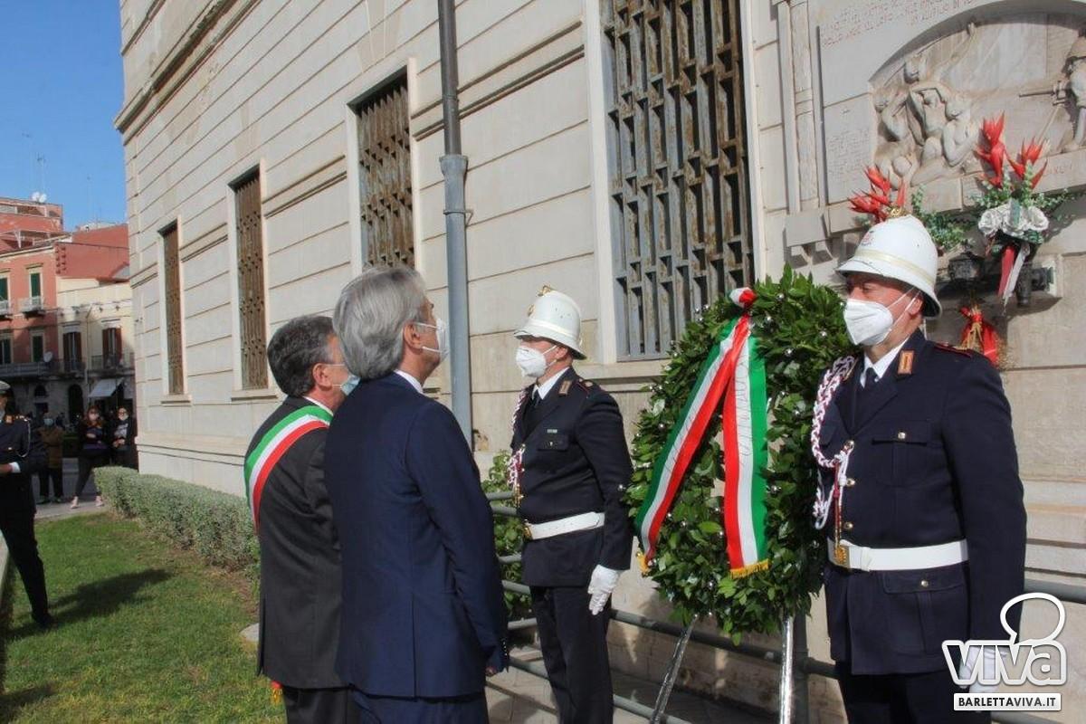 Unità Nazionale e Forza Armate, anche Barletta celebra il 4 novembre