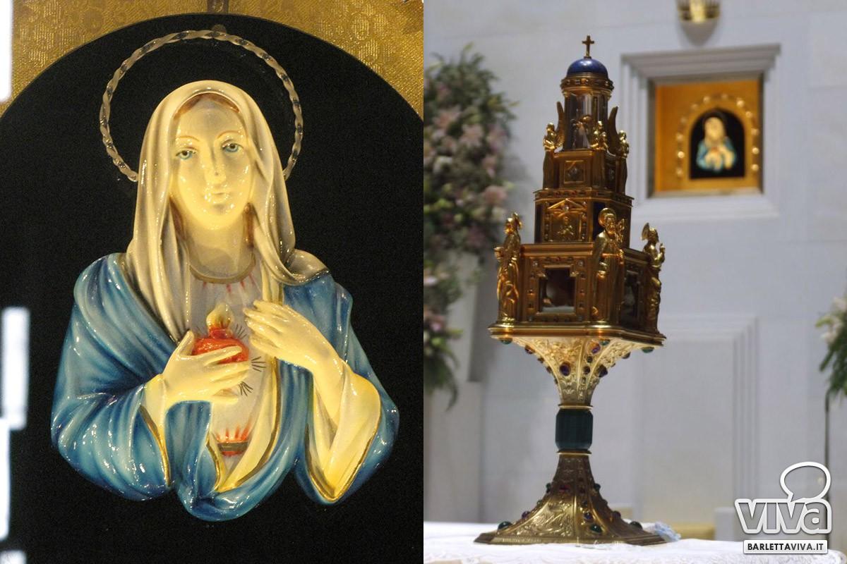 Madonna delle lacrime di Siracusa e il reliquiario