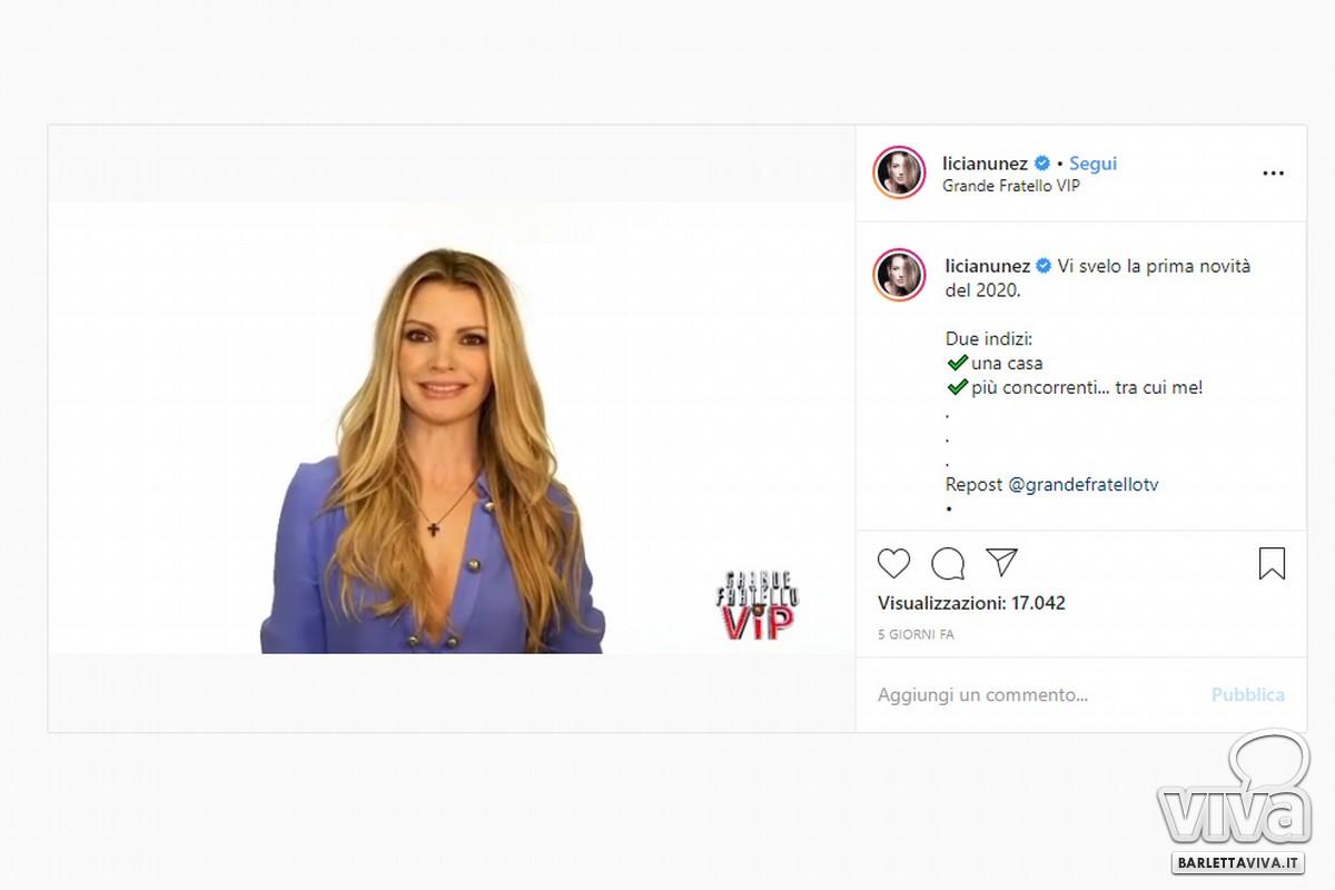 L'attrica di Barletta Licia Nunez sbarca al grande Fratello VIP