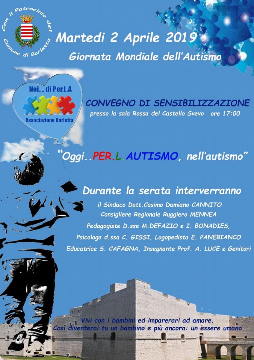 """Convegno di sensibilizzazione """"Oggi per l'autismo, nell'autismo"""""""