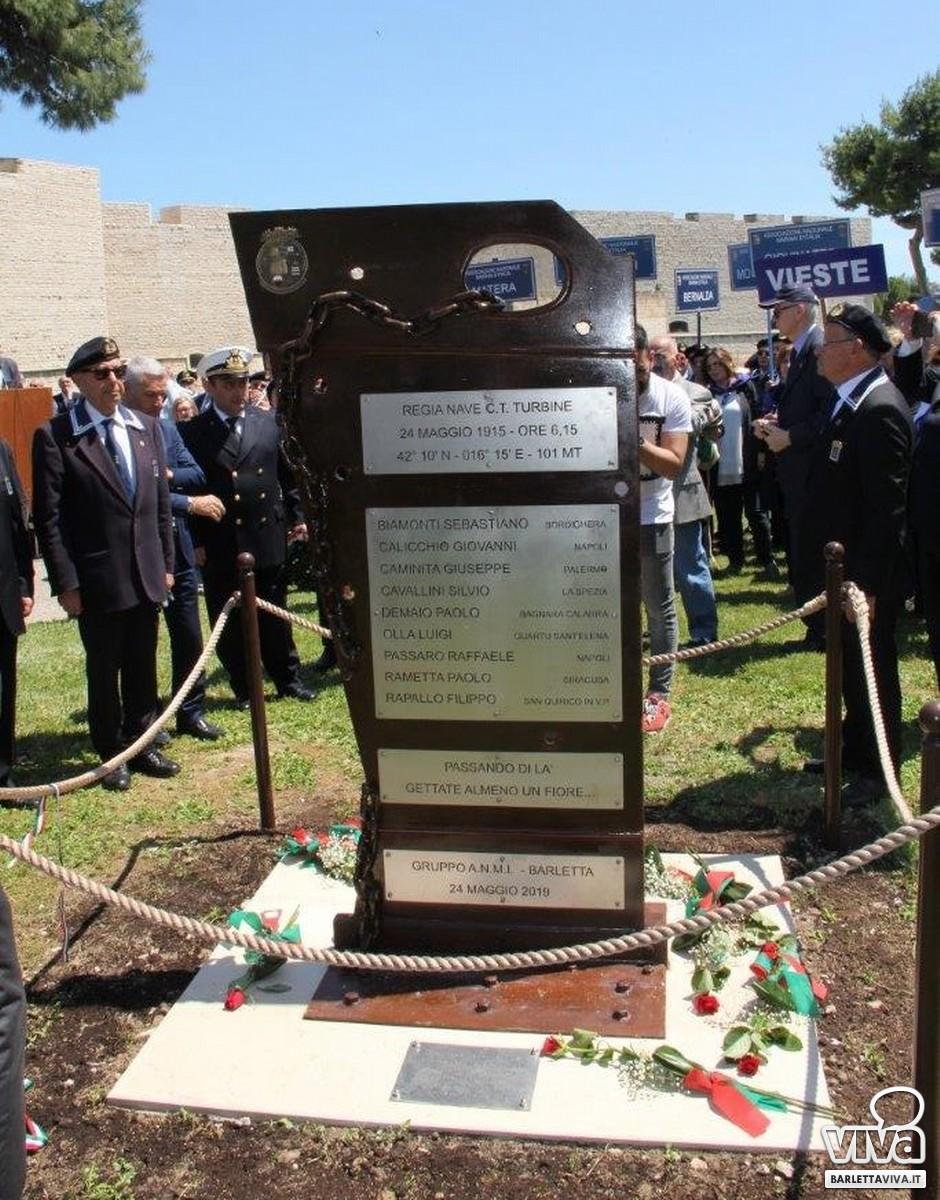 Un monumento per ricordare i caduti del Cacciatorpediniere Turbine