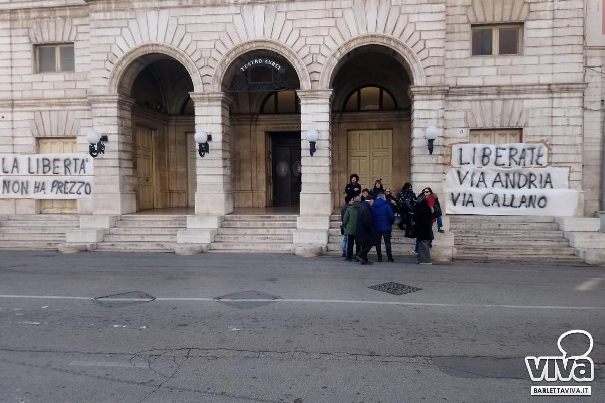 Protesta residenti di via Andria e via Callano