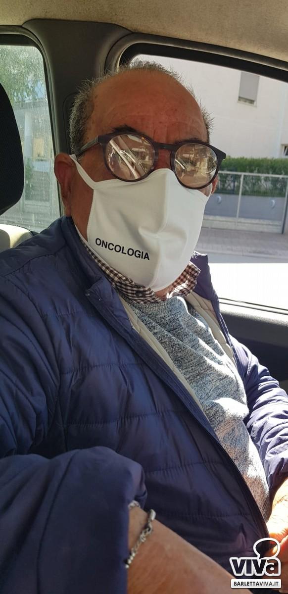 Donazione mascherine all'Oncologico di Barletta