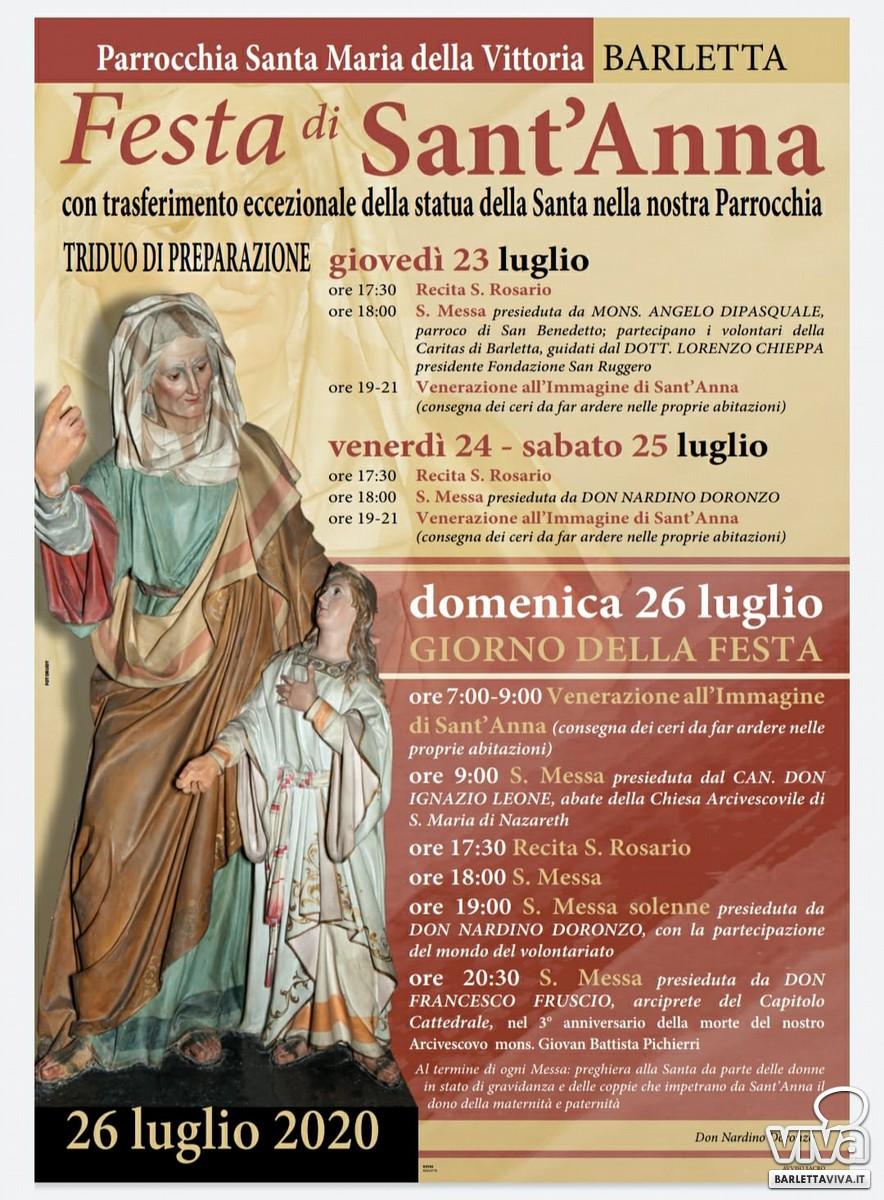 Festa di Sant'Anna, il programma