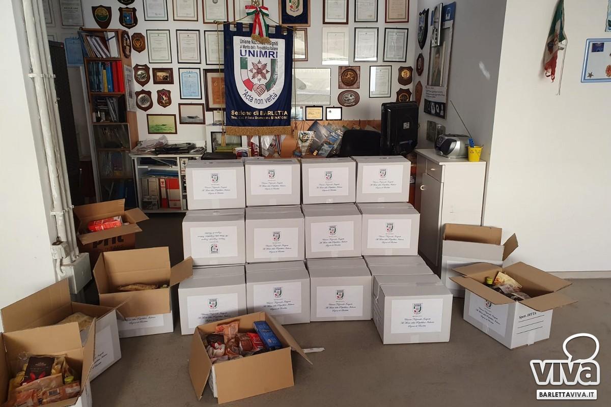 Doni per le famiglie bisognose di Barletta, iniziativa natalizia dell'UNIMRI