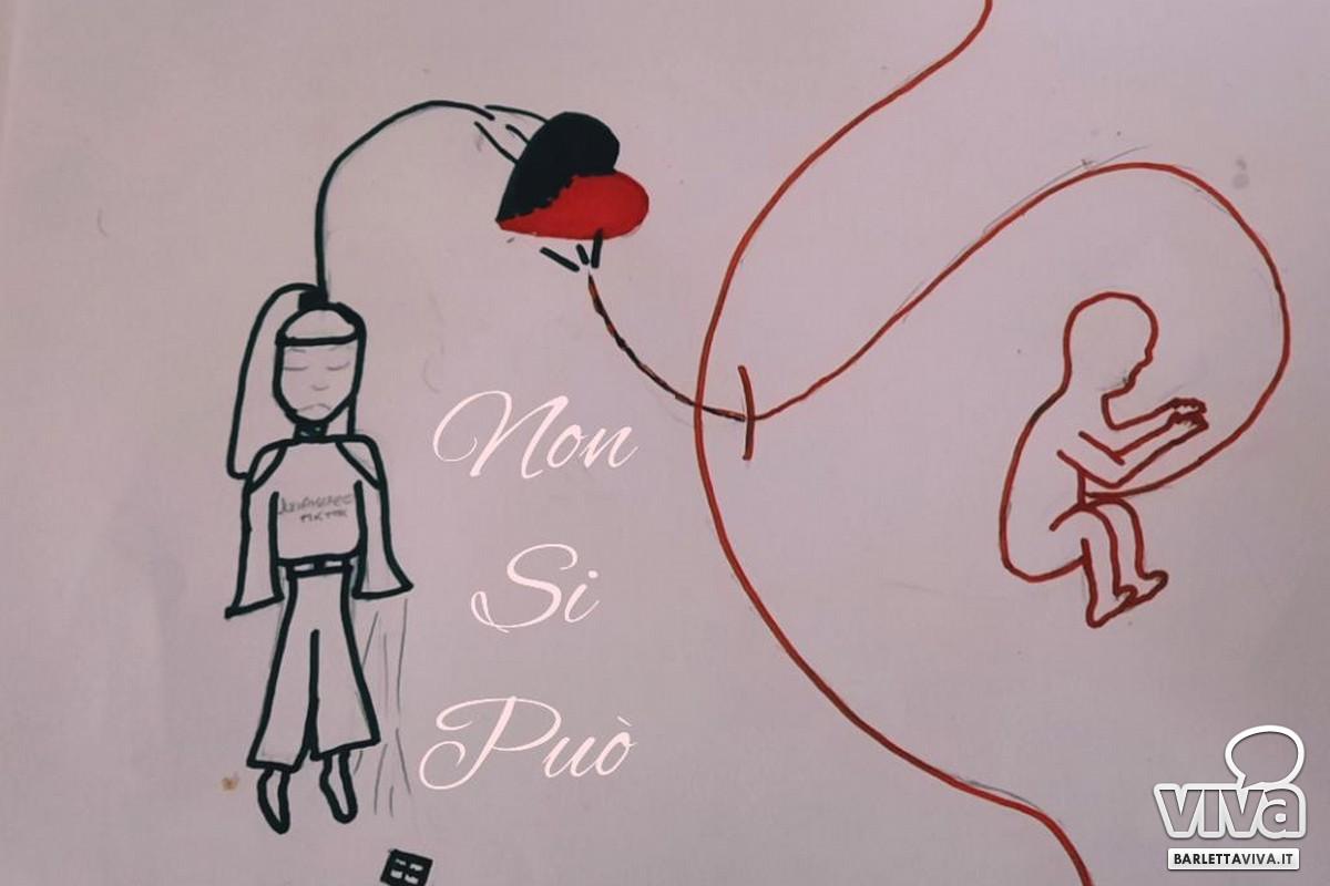 Il disegno di una bambina durante le attività promosse dalla Confraternita Misericordia