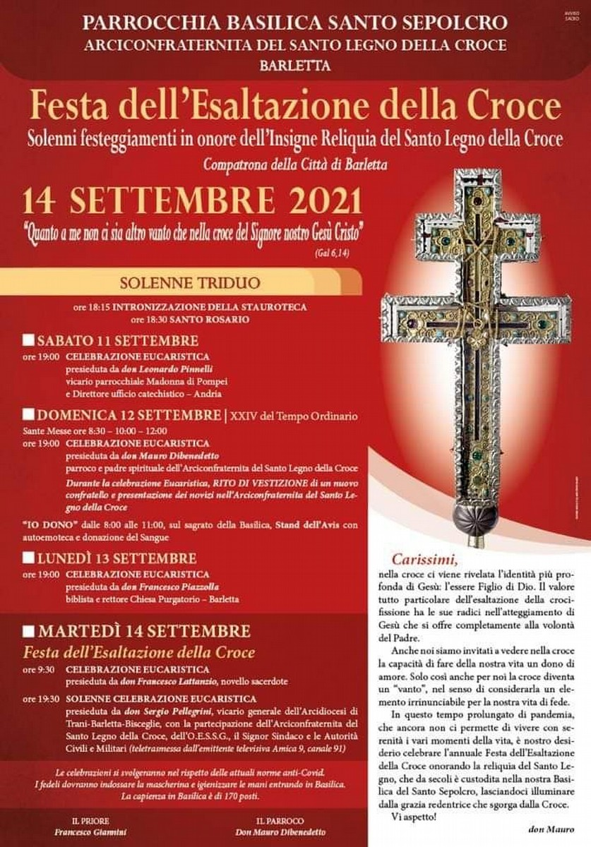 Festa dell'Esaltazione della Croce 2021