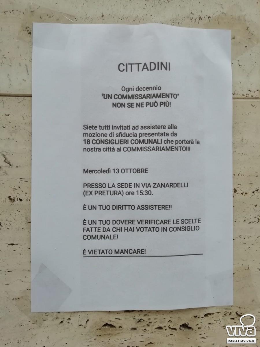 Volantini sul consiglio comunale