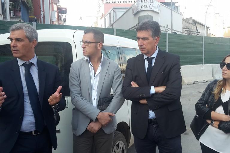 Sopralluogo del sindaco al cantiere di via Milano