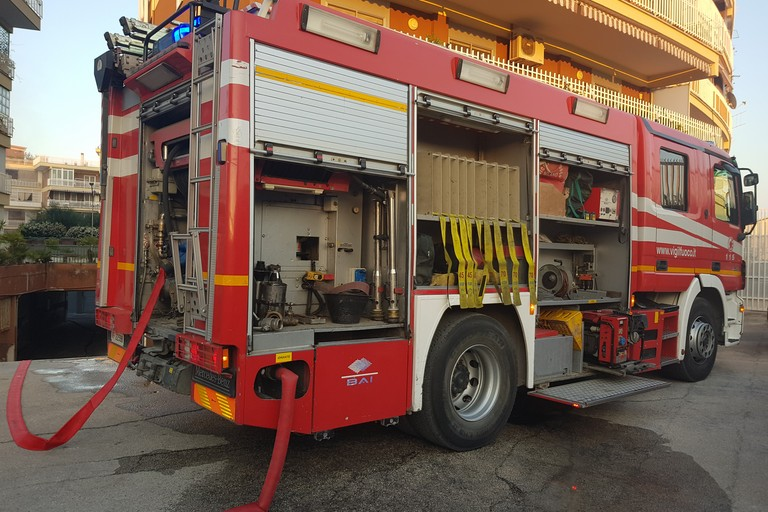 Incendio in via da Vinci