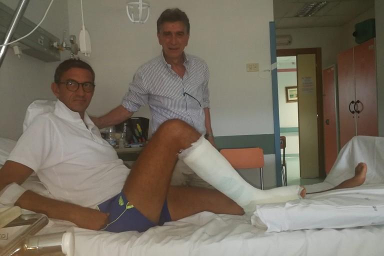 Cannito fa visita in ospedale al sindaco di Trani