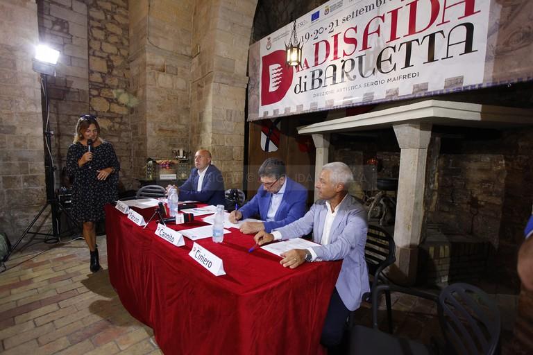 Presentata l'edizione 2019 della Disfida di Barletta: la conferenza stampa. <span>Foto Ida Vinella</span>