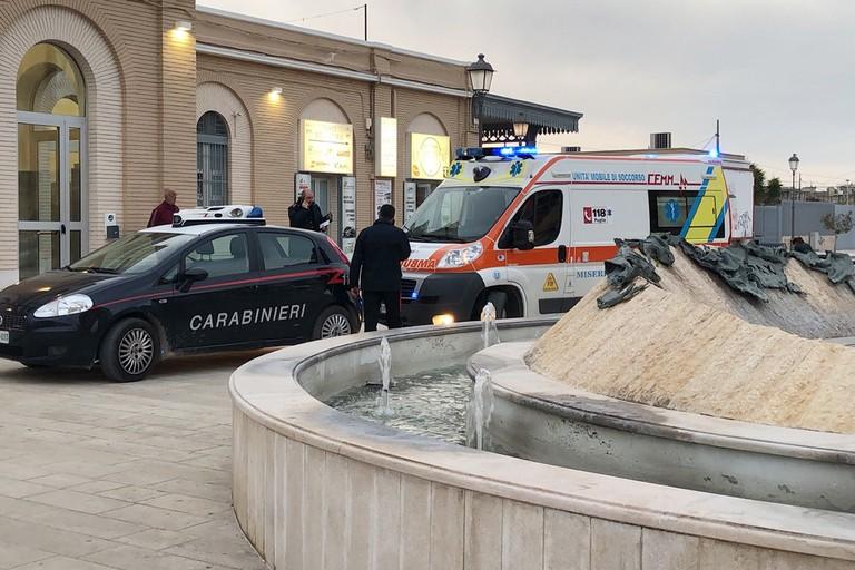 Aggressione in stazione a Trani