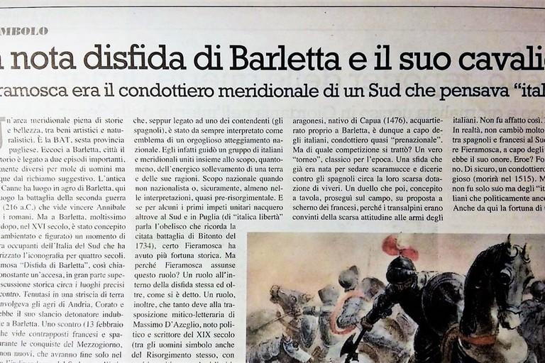 Articolo sulla Disfida di Barletta