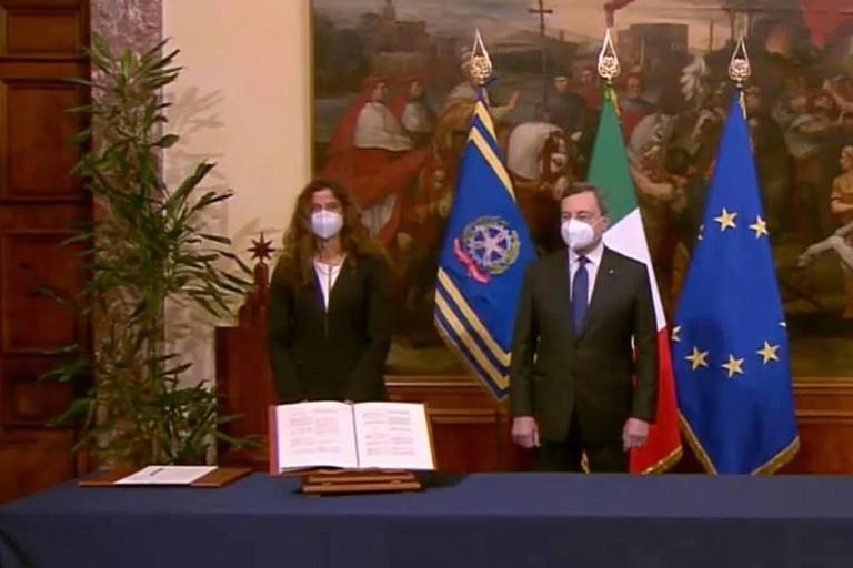 Assuntela Messina e Mario Draghi