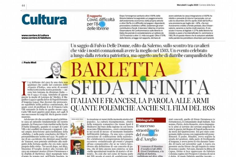 Barletta sulle pagine del Corriere della Sera