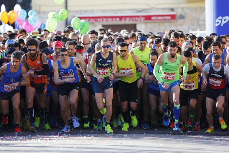 Barletta Half Marathon 2019, la partenza. <span>Foto Mario Sculco</span>