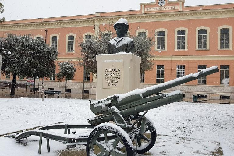 Barletta sotto la neve