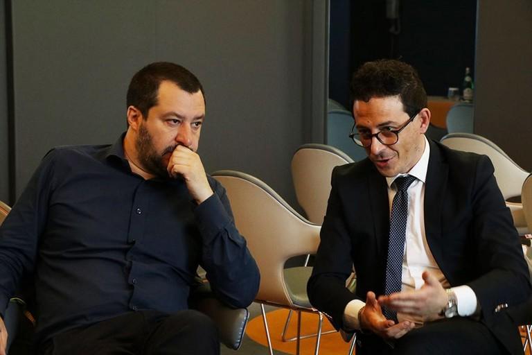 Flavio Basile e Matteo Salvini