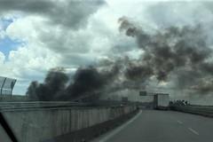 Fumo nero sulla SS16bis in zona Barletta